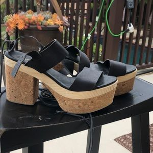 Free People Cork Platform Sandals